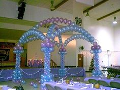 Small balloon canopy to dance under during a wedding.