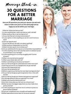 Marriage Check-in: 30 Questions for a Better Marriage - Coffee Chaos and Giggles Marriage Help, Healthy Marriage, Strong Marriage, Happy Marriage, Marriage Advice, Love And Marriage, Healthy Relationships, Marriage Challenge, Relationship Challenge