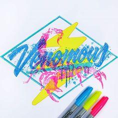 WEBSTA @ el_juantastico - ⚠ #type #typographyinspired #typography #Typespire #typegang #goodtype #calligritype #tipografia #letras #inspiration #art #illustration #designspiration #thedesigntip #artnerd2016 #artcollective #drawing #sketch #sharpie #neon #style #eljuantastico #tyxca #typoholic #thedailytype #lefty #scorpion