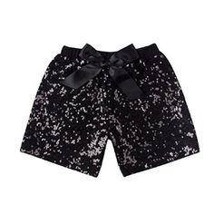 fd3b79731bfa Amazon.com: Toddler Girls Sequin Shorts Messy Code Baby Glitter Short Pants  with…