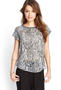 Knit  Woven Dolman Tee | FOREVER21 #F21Contemporary
