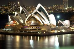 Sydney Opera House is a multi-venue performing arts centre in Sydney, New South Wales, Australia. Situated on Bennelong Point in Sydney Ha. Plaza Hotel, World's Most Beautiful, Beautiful Places, Beautiful Pictures, Oh The Places You'll Go, Places To Travel, Beste Hotels, Famous Landmarks, Famous Places