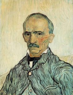 Vincent van Gogh, Portrait of Trabuc, Chief Orderly at Saint-Paul Hospital (1889), oil on canvas, 46 x 61 cm. Collection of Kunstmuseum Solothurn, Switzerland.