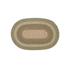 Colonial Mills Country Kitchen Braided Reversible Rug, Green