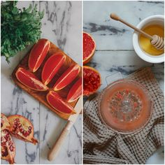 Ingredients for Carrot Salad with Pomegranate and Grapefruit