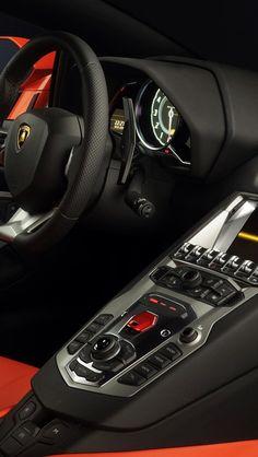 The fighter jet cockpit-inspired interiors of Lamborghini Aventador