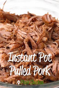 Instant Pot Pulled Pork - THE BEST BBQ pork EVER! Pork shoulder/pork butt seasoned with brown sugar, paprika, chili powder, dry mustard, garlic & onion Pulled Pork Roast, Easy Pulled Pork, Pulled Pork Recipes, Shredded Pork Recipes, Pork Shoulder Recipes, Pork Shoulder Roast, Pork Shoulder Butt Recipe, Pulled Pork Shoulder, Pulled Pork Instant Pot Recipe
