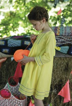 I Love Gorgeous summer yellow was a strong trend at Bubble London and now seen at many other kids trade fairs. Sewing Kids Clothes, Baby Kids Clothes, Sewing For Kids, Toddler Fashion, Kids Fashion, Teen Fashionista, Cute Outfits For Kids, Kid Styles, Child Models