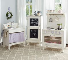 Farmhouse Kitchen Collection from Pottery Barn Kids - why are they always so expensive??  :-)