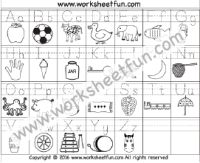 Capital & Small Letter Tracing Worksheet