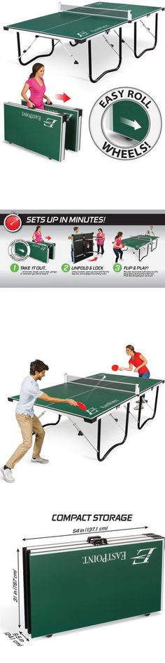 Tables 97075: Ping Pong Table Tennis Sports Fold Table 15Mm Top Indoor Game  Official Size