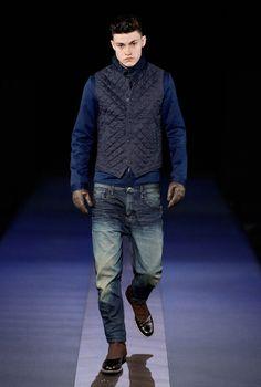 G-Star Autumn/Winter 2013 - Heldth Raw Denim, Blue Denim, Mens Winter, Fall Winter, Drop Crotch Jeans, Winter Fashion, Men's Fashion, Casual Outfits, Men Casual