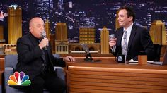 Jimmy Fallon and Billy Joel Loop Their Voices on an iPad App and Sing a Doo-Wop Duet of 'The Lion Sleeps Tonight'