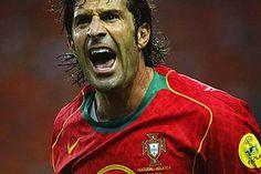 Figo, player Portugal. Favorite player ever!