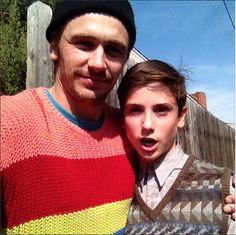 Sweater boys James Franco and Teo Halm