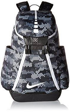 1a598789066c Nike Hoops Elite Max Air Team 2.0 Basketball Backpack Black And White  Backpacks