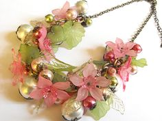 lucite flowers and leaves