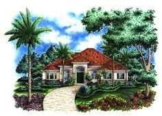 Mediterranean House Plan chp-37153 at COOLhouseplans.com