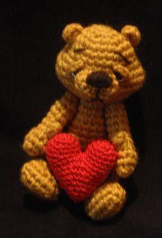 sad bear (my crochet)