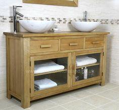 Oak bathroom vanity idea