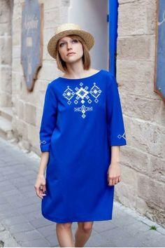 Сукня «Леля» синього кольору. Етнохата efb3ebb442cef