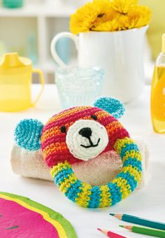 FREE CROCHET PATTERN: Teddy bear rattle