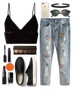 """""""👄"""" by gaellerached on Polyvore featuring T By Alexander Wang, Ray-Ban, Chanel, NARS Cosmetics, Humble Chic and Illamasqua"""