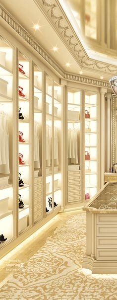 Step into another world a dressing room in a luxury mansion.