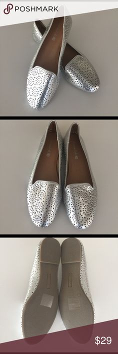 New American Eagle Loafers New American Eagle Loafers in Silver, Size 11 American Eagle Outfitters Shoes Flats & Loafers