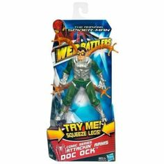 Spider Man Web Battlers - CLASSIC DOC OCK BATTLER by Hasbro. $12.34. Amp up your adventures with the many-limbed menace of this Attackin? Arms DOC OCK figure. Squeeze his legs to activate his octo-arm attack. The Attackin? Arms Doc Ock figure is more than a match for his enemies with octopus arms. This Attackin? Arms Doc Ock figure looks just like the web-slinging crime-fighter?s archenemy, but he has something your Spider man figure (sold separately) may not be ...