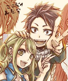 Fairy tail Natsu and Lucy I like the style of this picture a lot