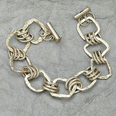 Fine Silver Chain Link Bracelet Fine Silver Charm Bracelet - my diy life