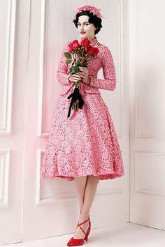 Long-Sleeve oversize Vintage Style lace Slim Skirt Suit TE28 plus1x-10x(SZ16-52)