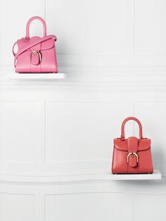 Delvaux - Brillant Mini Sellier : Flamingo / Brillant Mini Box Calf : Sunset