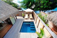 Hôtel Hilton Moorea Lagoon Resort and Spa, Polynésie française - Bumgalow de luxe avec piscine et jardin