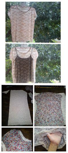A lace shirt - DIY