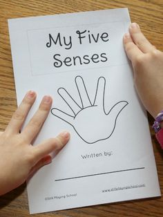 FREE My Five Senses Book for kids to create, write, illustrate, and read themselves!