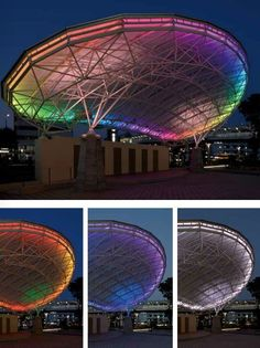 Lighting on steel structure roof