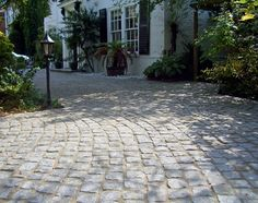 Discover Marshalls range of driveway pavers today. Browse high quality, affordable driveway paving slabs and block paving bricks here Cobbled Driveway, Driveway Paving, Driveway Design, Paving Slabs, Block Paving, Garden Paving, Paving Stones, Modern Driveway, Concrete Pavers