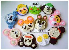 Sake-Knit amigurumi toys: Crochet Coin purse and Phone Cases Construction Scheme Kawaii Crochet, Crochet Disney, Crochet Bear, Love Crochet, Crochet Motif, Crochet Dolls, Easy Crochet, Crochet Flowers, Crochet Patterns
