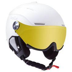 Bollé White Backline Visor Ski Helmet with Extra Lens