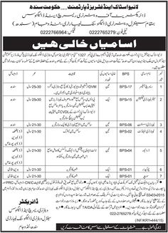 Research Officer Jobs in Livestock and Fisheries Department Govt of Sindh Jobs In pakistan Pakistan Education News Result Admission Jobs