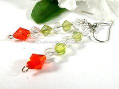 Christmas Earrings Swarovski Crystal Earrings by EnchantedRoseShop #pottiteam