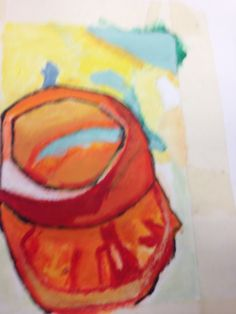 A painting of a bell pepper