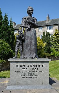 Jean Armour wife of Rabbie Burns - Dumfries Glasgow, Edinburgh, Scottish Accent, Robert Burns, Most Beautiful Cities, My Heritage, Public Art, Armour, Jean Jean