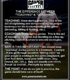 Important tip for youth coaches...