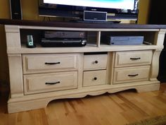 Made this dresser into an entertainment centre.