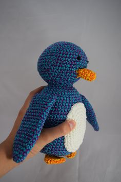 Crochet Animals, Penguins, Dinosaur Stuffed Animal, Great Gifts, Etsy Shop, Trending Outfits, Toys, Purple, Unique Jewelry