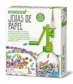 Have fun making paper beads with our specially designed tool. Simply insert strips of recycled paper from newspapers or magazines into the tool and turn the handle. Use an empty plastic bottle to storage the beads. then you all need to use your imagination and create jewels or use them to decoration.