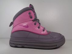 ebd161baf ITEM  Girls Nike Woodside II 2 High Pink Black-Grey Boots Preschool size  authentic